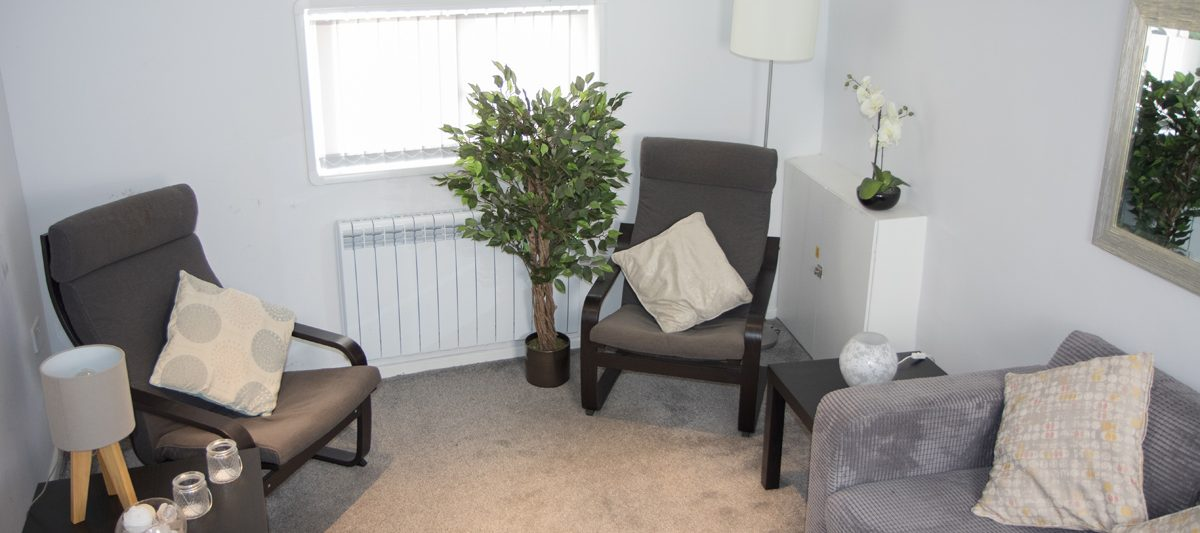 Krystyna Blackbrook's therapy room in Chiswick